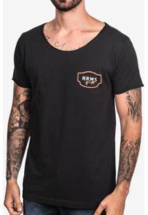 Camiseta Hermoso Compadre Flowerish Pipe - Masculino-Preto
