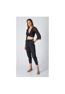 Calça Jeans Express Jogger Suellen Preto