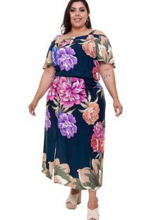 Vestido Midi Almaria Plus Size Mais Na Moda Fendas