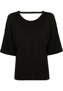 Iro Camiseta Mangas Flare - Preto
