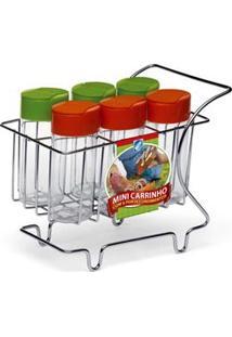 Porta-Condimentos Arthi 5309 C/ 6 Peças E Suporte