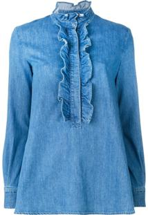 Stella Mccartney Blusa Jeans 'Camicia' - Azul