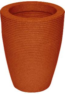 Vaso Vasap Design Cone Riscato Alt: 45 Cm. X Larg: 30 Cm. Terracota