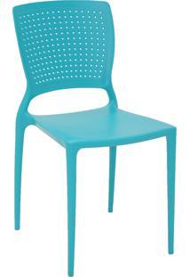Cadeira Tramontina 92048070 Safira Em Polipropileno E Fibra De Vidro Azul