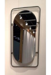Espelho Capsule Base Retangular Metalica 80 Cm (Alt) - 50457 - Sun House