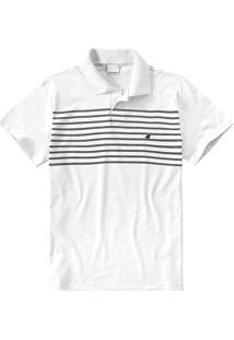Camisa Polo Slim Listrada Malwee