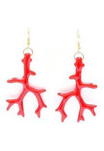 Brinco Coral Vermelho