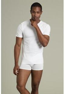 Camiseta Masculina Recco Comfort Modal - Masculino-Branco