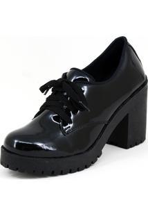 Sapato Salto Magi Shoes Verniz Preto