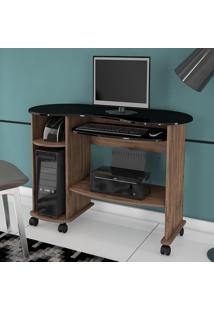 Mesa Para Computador 100% Mdf C18 Np Nobre/Preto - Dalla Costa