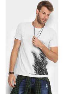 Camiseta Handbook Estampada Gil Masculina - Masculino-Branco+Preto
