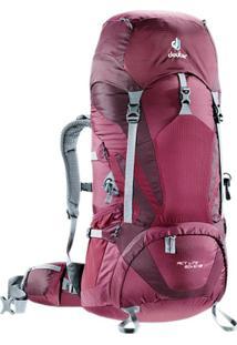 Mochila Cargueira Para Trekking 60 Litros Act Lite 60+10 Sl Deuter - Masculino-Bordô