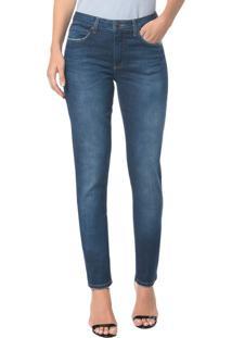 Calça Jeans Five Pocktes Mid Rise Slim Ckj 021 Mid Rise Slim - Marinho - 34