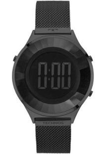 Relógio Technos Crystal Preto - Bj3851Ae/4P Feminino - Feminino-Preto