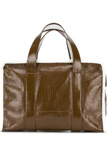 Kassl Editions Check Lined Tote Bag - Marrom