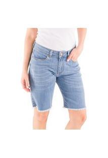 Bermuda Jeans Lavagem Clara Loony Jeans