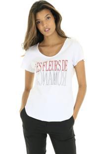Camiseta Malha Branca Com Silk Localizado Aha - Kanui
