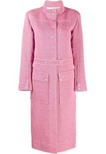 Courrèges Trench Coat Clássico - Rosa