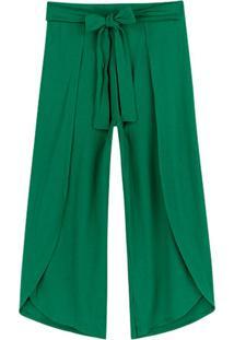 Calça Verde Pantacourt Canelada