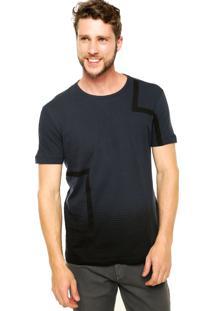 Camiseta Manga Curta Calvin Klein Jeans Degradê Cinza