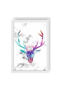 Quadro Love Decor Decorativo Com Moldura Escandinavo Cervo