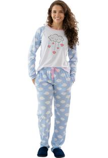 Pijama Longo - Chuva De Amor - Mania Pijamas