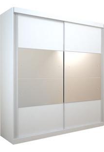 Guarda-Roupa Delta Com Espelho - 2 Portas - 100% Mdf - Branco