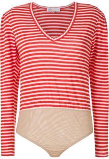 Nk Body Stripe Rob Listrado - Vermelho