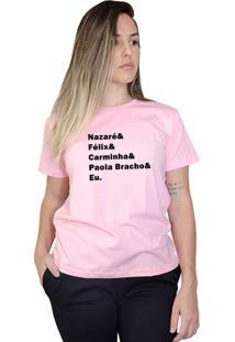 Camiseta Boutique Judith Vilões Novelas Rosa