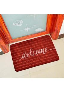 Capacho Carpet Welcome Vermelho