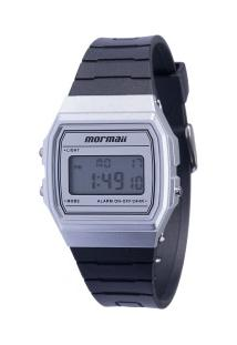 Relógio Digital Mormaii Mojh02Ag - Feminino - Prata/Preto