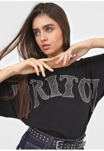 Camiseta Triton Aplicações Preta