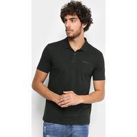 5924736893 Camisa Polo Calvin Klein Piquet Básica Masculina - Masculino-Verde Escuro