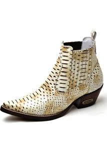 Bota Top Franca Shoes Country - Masculino-Off White