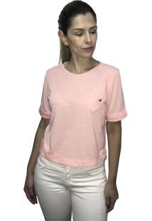 Camiseta Hifen Com Bolso Laranja - Kanui