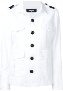 Dsquared2 Jaqueta Militar Slim - Branco