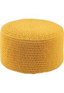 Puff Pastilha Crochê Amarelo Stay Puff