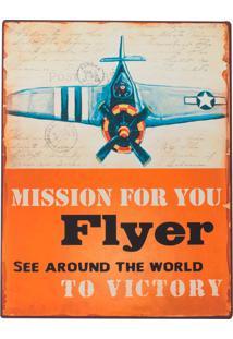Placa Decorativa Flyer