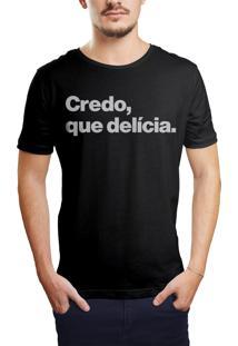 Camiseta Hunter Credo, Que Delicia Preta