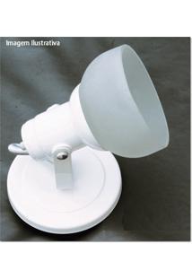 Spot Branco Com Vidro Fosco Para 1 Lâmpada Ref. 450/1
