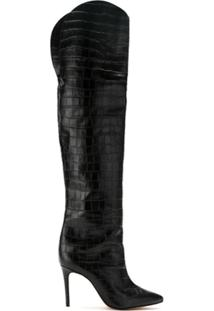 Schutz Bota Over The Knee Texturizada - Preto