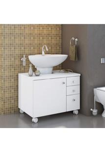 Gabinete Para Banheiro 1 Porta Mimo Albatroz Móveis Não Acompanha Cuba Branco Textura
