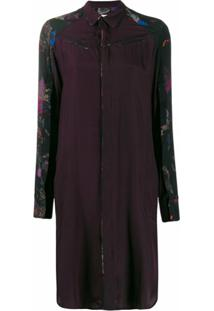 A.F.Vandevorst Print Mix Shirt Dress - Roxo