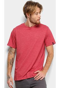 Camiseta Quiksilver Chest Embroidery Color Masculina - Masculino-Vermelho+Branco