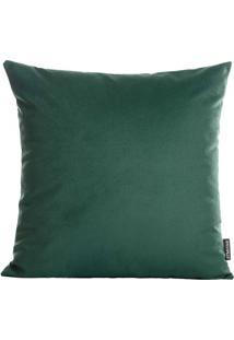 Capa Para Almofada Aveludada- Verde Escuro- 42X42Cm