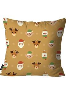 Capa Para Almofada Mdecor De Natal Renas Caramelo