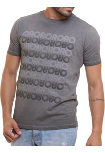 Camiseta Básica Oitavo Ato Marmorizada Wash - Masculino