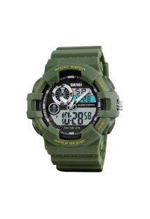 Relógio Skmei Masculino -1312- Verde Militar
