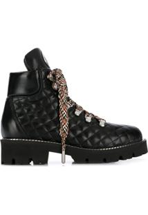 Baldinini Ankle Boot Matelassê - Preto