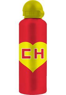 Garrafa Squeeze Chapolin 500Ml - Urban - Vermelho / Amarelo